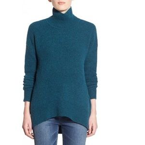 Madewell waffle mock neck sweater M